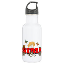 Animal With Animals Stainless Steel Water Bottle