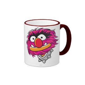 Animal With Collar Ringer Coffee Mug
