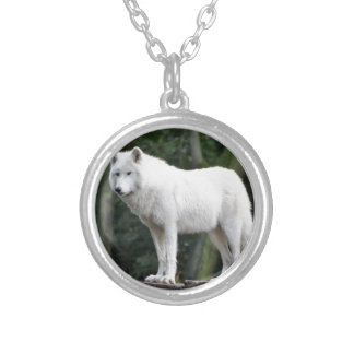 Animal Wolf Nature Peace Love Destiny Round Pendant Necklace