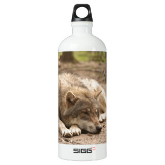 Animal Wolf Peace Love Wild Country Nature Aluminum Water Bottle