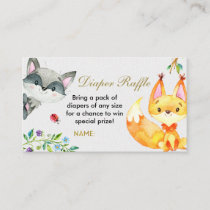 Animal Woodland - Diaper Raffle Card