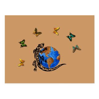 Animal World Postcard