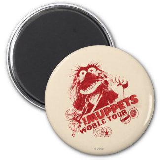 Animal World Tour 2 Inch Round Magnet