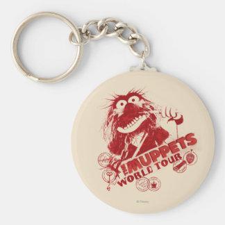 Animal World Tour Basic Round Button Keychain