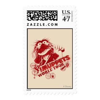Animal World Tour Stamp