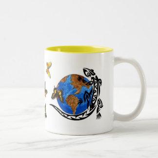 Animal World Two-Tone Coffee Mug