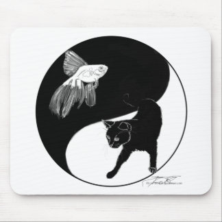 Animal YinYang Black and White Mouse Pad