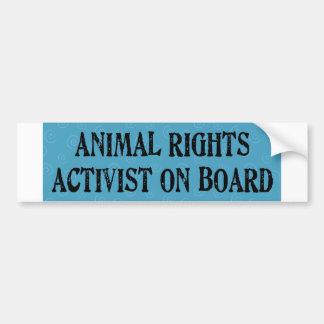 animalactivist pegatina de parachoque