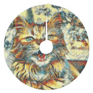 AnimalArt_Cat_20170906_by_JAMColors Fleece Tree Skirt