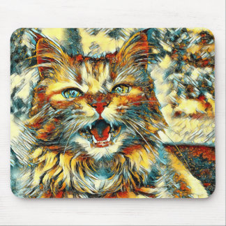 AnimalArt_Cat_20170906_by_JAMColors Mouse Pad