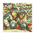 AnimalArt_Chimpanzee_20170601_by_JAMColors Canvas Print