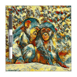 AnimalArt_Chimpanzee_20170601_by_JAMColors Dry-Erase Board