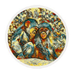 AnimalArt_Chimpanzee_20170601_by_JAMColors Edible Frosting Rounds