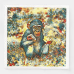 AnimalArt_Chimpanzee_20170603_by_JAMColors Paper Dinner Napkin