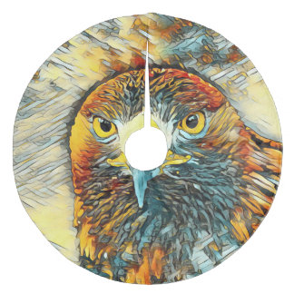 AnimalArt_Eagle_20170602_by_JAMColors Fleece Tree Skirt