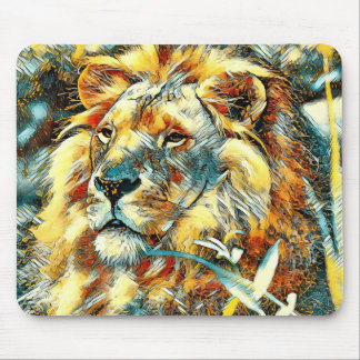 AnimalArt_Lion_20170605_by_JAMColors Mouse Pad
