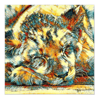AnimalArt_Lion_20170610_by_JAMColors Magnetic Card
