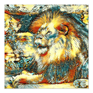 AnimalArt_Lion_20171009_by_JAMColors Magnetic Card