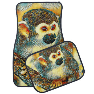 AnimalArt_Monkey_20170601_by_JAMColors Car Floor Mat