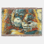 AnimalArt_OrangUtan_20170603_by_JAMColors Throw