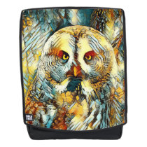 AnimalArt_Owl_20170602_by_JAMColors Backpack