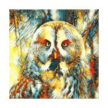 AnimalArt_Owl_20170602_by_JAMColors Canvas Print