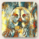 AnimalArt_Owl_20170602_by_JAMColors Coaster