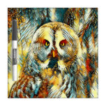 AnimalArt_Owl_20170602_by_JAMColors Dry Erase Board