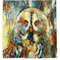 AnimalArt_Owl_20170602_by_JAMColors Shower Curtain