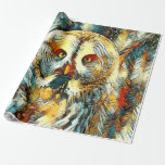 AnimalArt_Owl_20170602_by_JAMColors Wrapping Paper