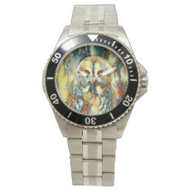AnimalArt_Owl_20170602_by_JAMColors Wrist Watch