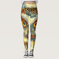 AnimalArt_Owl_20170904_by_JAMColors Leggings