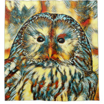 AnimalArt_Owl_20170922_by_JAMColors Shower Curtain