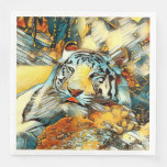 AnimalArt_Tiger_20170603_by_JAMColors Paper Dinner Napkin