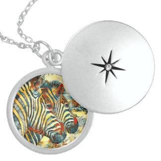 AnimalArt_Zebra_20170707_by_JAMColors Locket Necklace