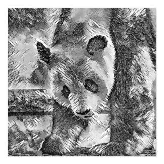 AnimalArtBW_Panda_20170706_by_JAMColors Magnetic Card
