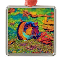 AnimalColor_Guineapig_001_by_JAMColors Metal Ornament