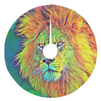 AnimalColor_Lion_009_by_JAMColors Fleece Tree Skirt