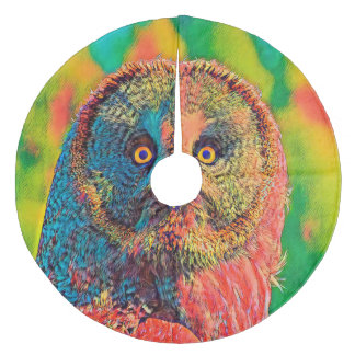 AnimalColor_Owl_001_by_JAMColors Fleece Tree Skirt