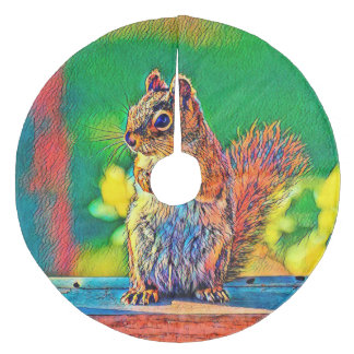 AnimalColor_Squirrel_003_by_JAMColors Fleece Tree Skirt