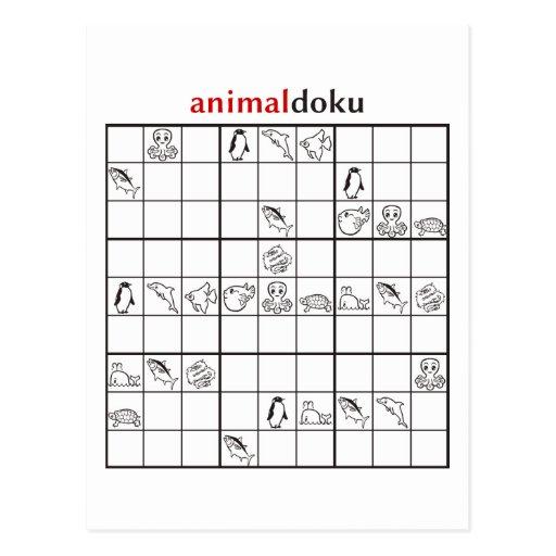 animaldoku acuático postal