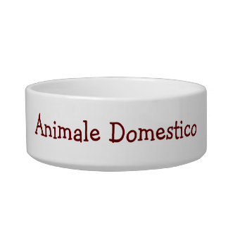 """ANIMALE DOMESTICO"" FAMILY DOG-ITALIAN STYLE BOWL"