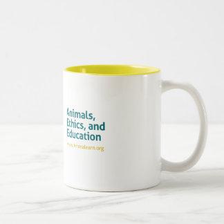 Animalearn animals, ethics, and education Two-Tone coffee mug