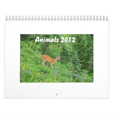 Animales 2012 calendarios