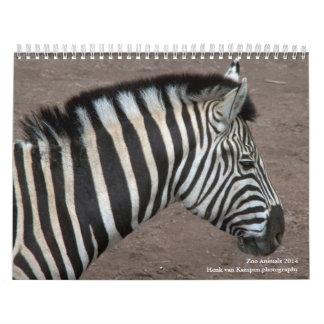Animales 2014 del parque zoológico calendarios de pared