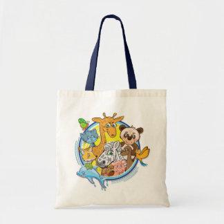 Animales 2 todos junto - bolso del presupuesto bolsa de mano
