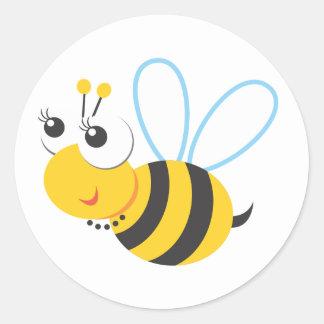 Animales - abeja pegatina redonda
