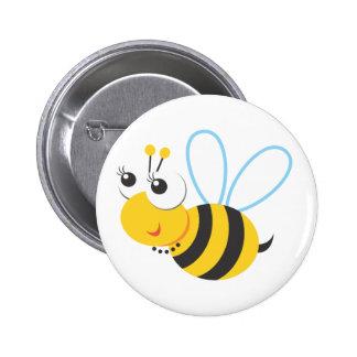 Animales - abeja pin redondo de 2 pulgadas