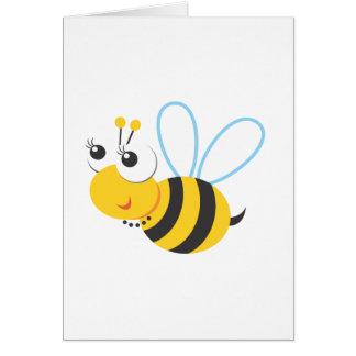 Animales - abeja tarjeta de felicitación