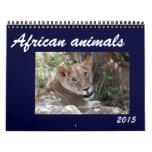 animales africanos 2015 calendarios